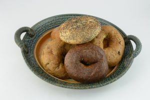 Plate of bagels