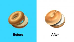 Apple has upgraded bagel emoji